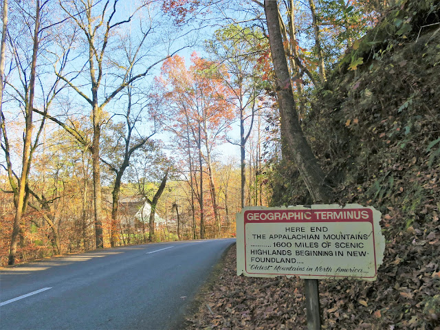 Appalachian Mountains terminus, Tannehill Ironworks Historical State Park, McCalla, Alabama. November 2020.