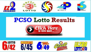 PCSO Lotto Result January 9 2021