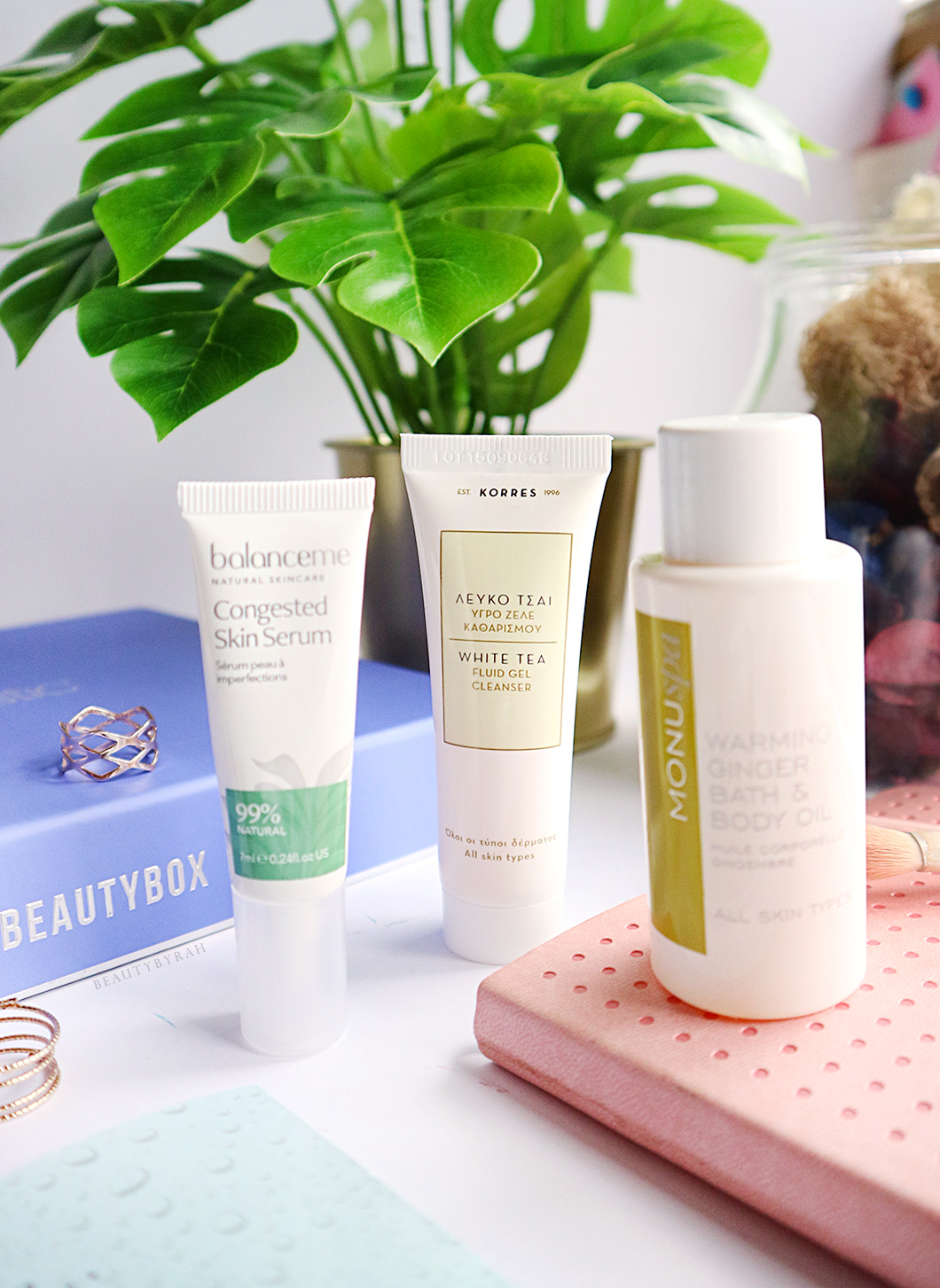 Balanceme Congested Skin Serum and Korres White Tea Gel Cleanser Review