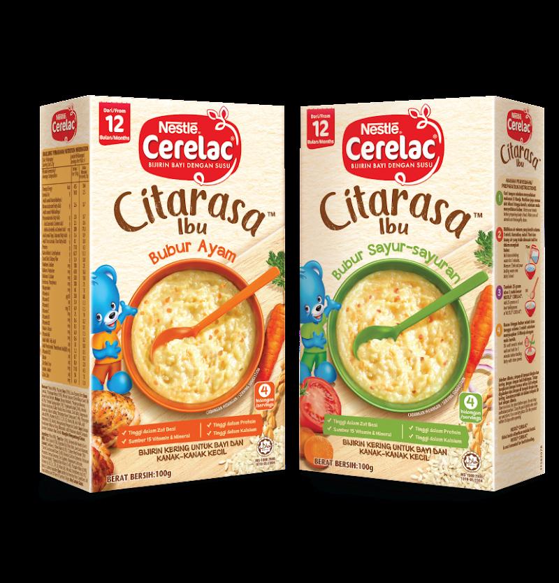 CERELAC® CITARASA IBU™ Baharu Untuk Perjalanan Pemakanan Kanak-Kanak Mengenali Makanan Savouri Dengan Lebih Tekstur