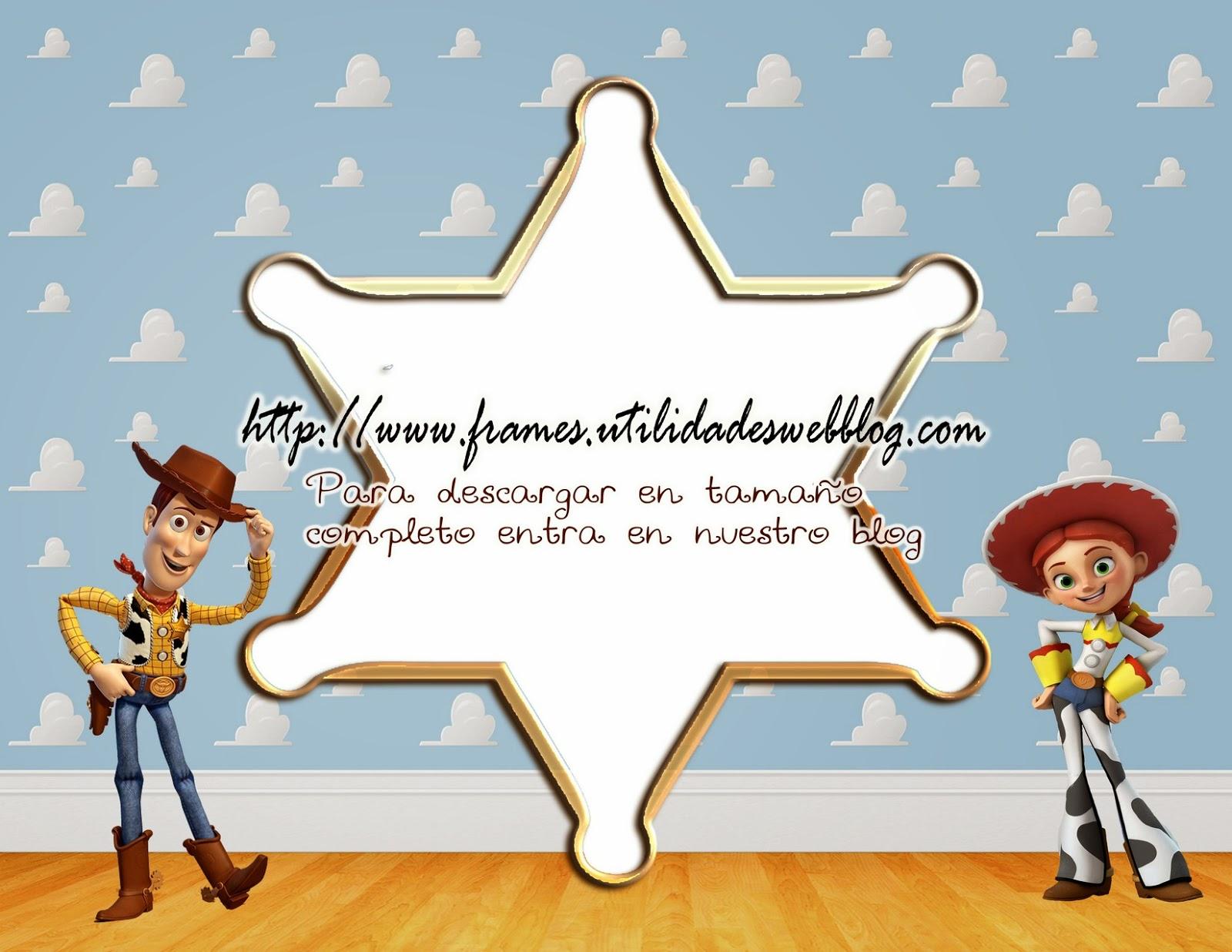 2 marcos para hacer fotomontajes de Woody y Jessie