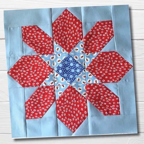 Star Flower Quilt Tutorial