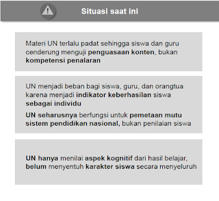 Kebijakan Baru Tentang Ujian Nasional (UN)