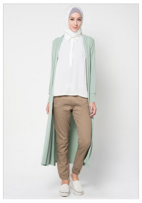 Model Baju Muslim Cardigan Untuk Remaja Terbaru