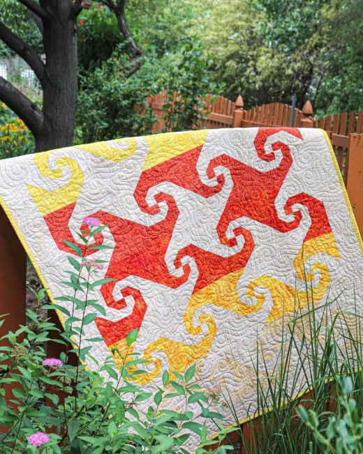 Sunset Trails Wall Hanging designed by Accuquilt