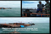 Prajurit Lanal Dabo Singkep Laksanakan SAR Kapal Tenggelam di Perairan Marok Tua