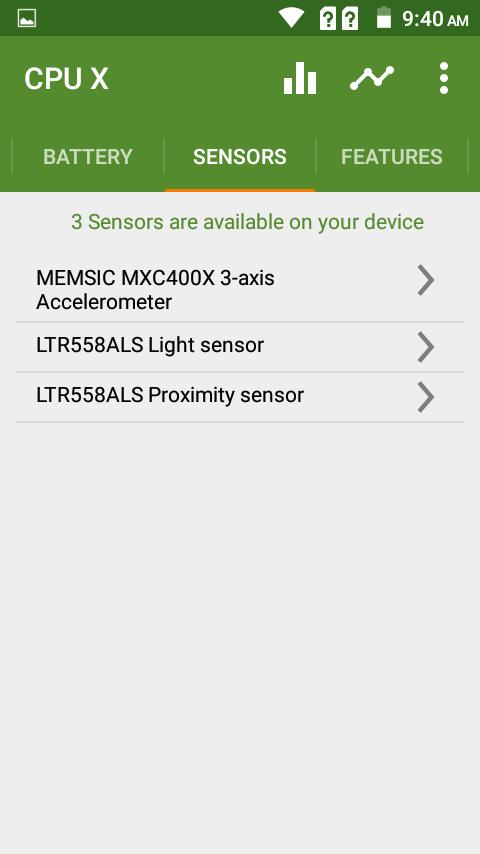 Primo E8 Sensors