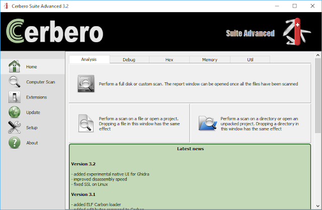 Screenshot Cerbero Suite Advanced 3.2.0 Full Version