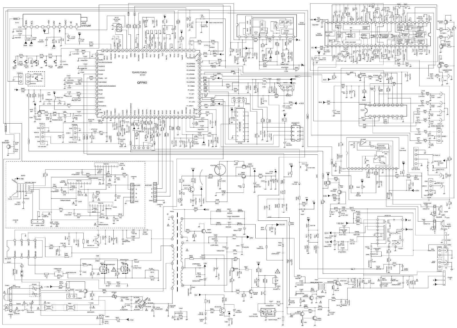 colour tv circuit diagram the wiring diagram color tv circuit diagram usee ics tda6106 tda9573 circuit diagram
