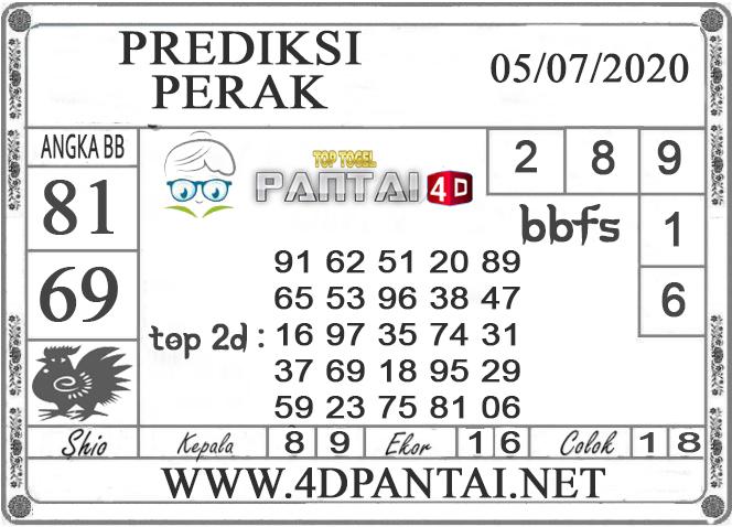 PREDIKSI TOGEL PERAK PANTAI4D 05 JULI 2020
