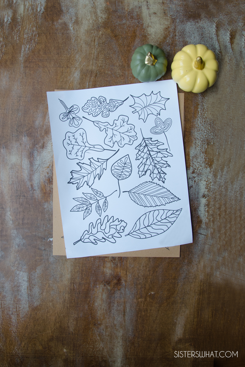 free printable thanksgiving coloring leaves