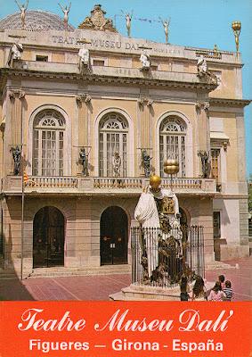 postal, Dalí, museo, teatro, Figueras