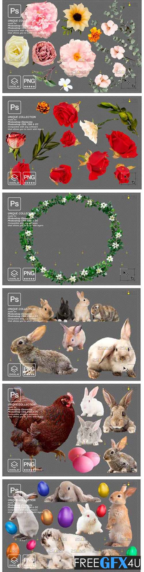 Easter Photoshop Png Bunny Overlay