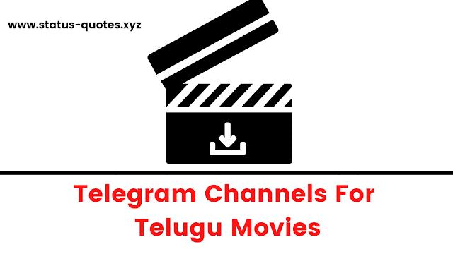 Telugu Movies Telegram Channels To Join 2021