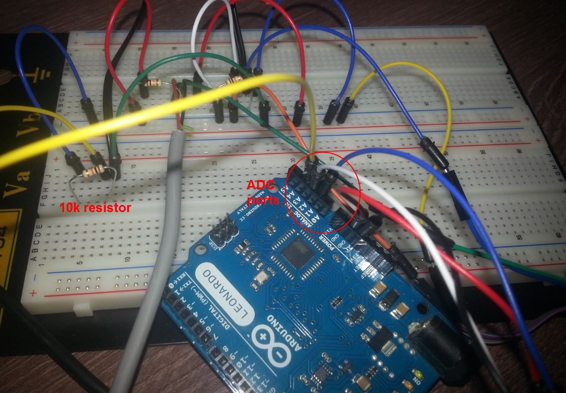 Testing Cheap A Ntc Thermistor With Arduino Embedded Programming Circuit For Measuring Temperature Using And I Set Up Three Thermistors That Each Attaches Adc Ports From A1 To A3 Of Aduino The Is 10k Resistor Value At 25 C