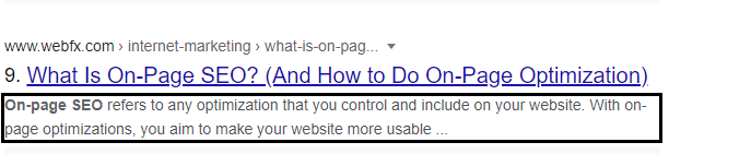 On Page SEP techniuqes