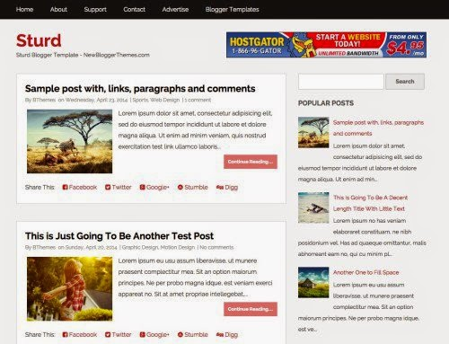 Download Free Top Fresh Blogger Templates