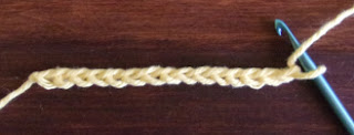 Tunisian Ladder Stitch Base Row 1 Start