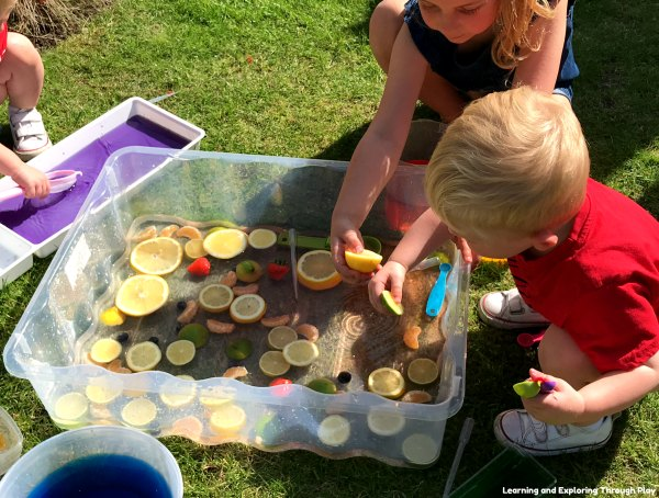Sensory Fruit Water Play Ideas for Early Years