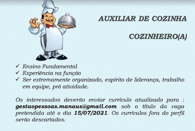 AUXLIAR DE COZINHA