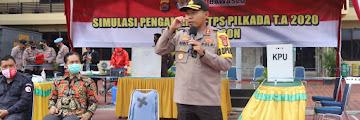 Polres Cilegon laksanakan Simulasi antisipasi Pengamanan TPS Pilkada