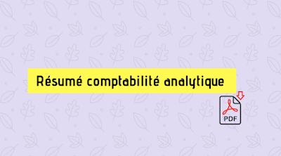 Résumé cours comptabilité analytique pdf