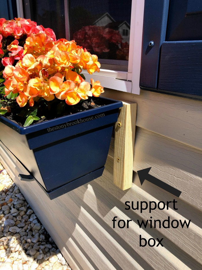 Window box supports for attaching
