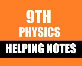 9th Class (Matric-I) Physics Helping Notes in PDF