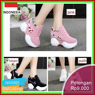 NAG063 Sepatu Wanita Adidas Ori Vietnam Shoes Joging Senam Bmgshop
