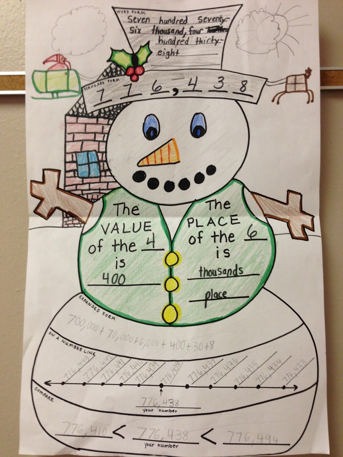 Teaching With Moxie Snowman Place Value