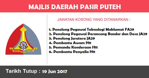 Jawatan Kosong di Majlis Daerah Pasir Puteh