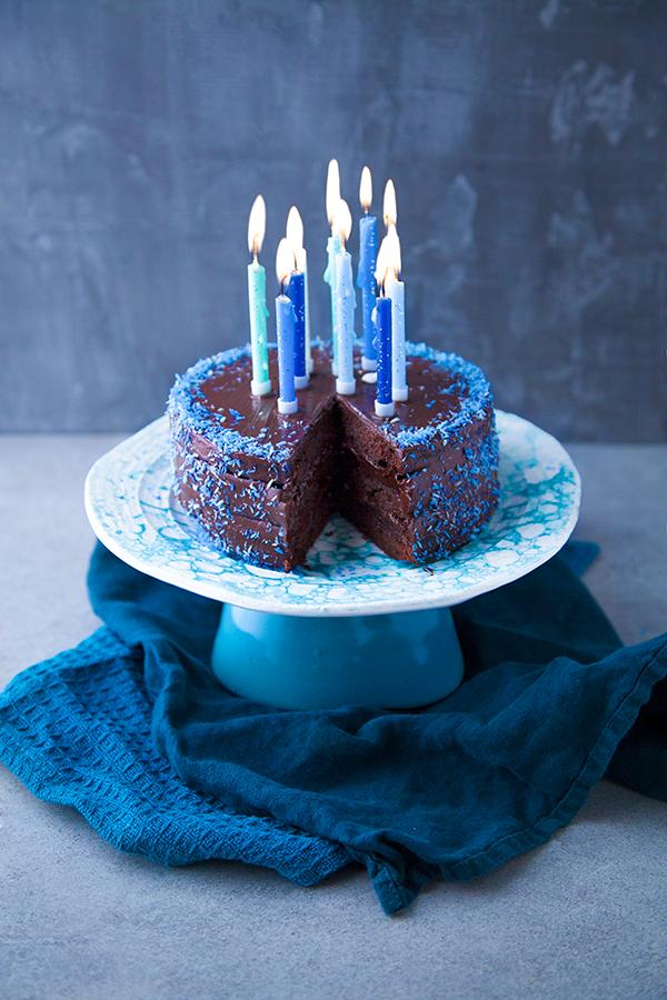 Gâteau vegan d'anniversaire au chocolat