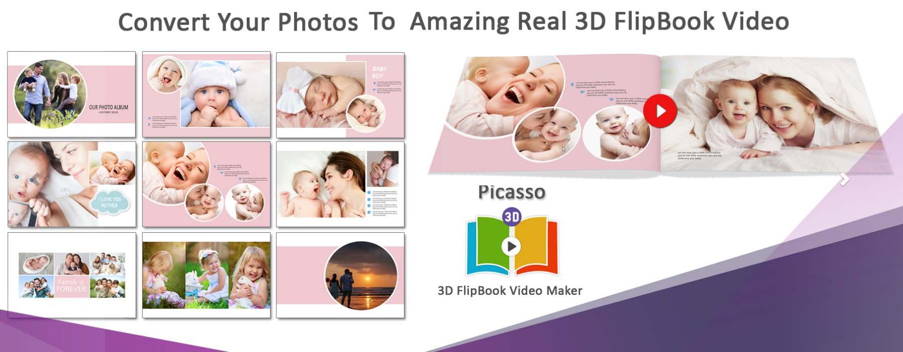 3D FlipBook Video Maker
