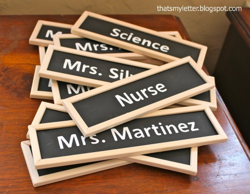 diy chalkboard name plaques