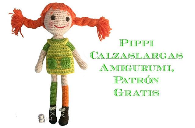 Muñeca Pippi amigurumi