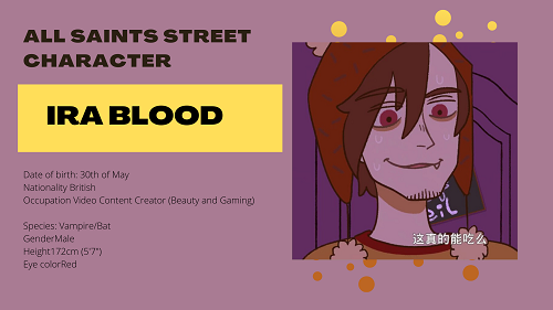 All Saints Street Character: Ira Blood