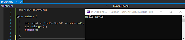 Source Code Hello World C++