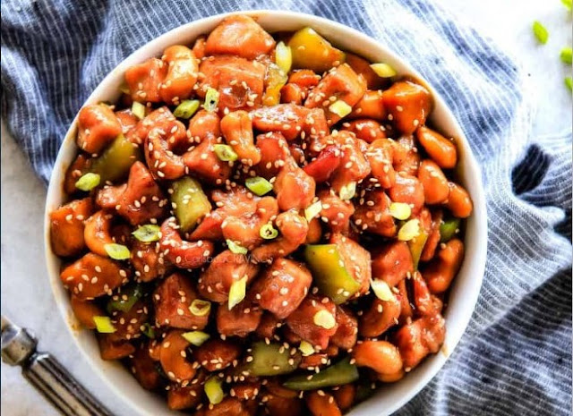 Easy Cashew Chicken #lowcarb #dinner