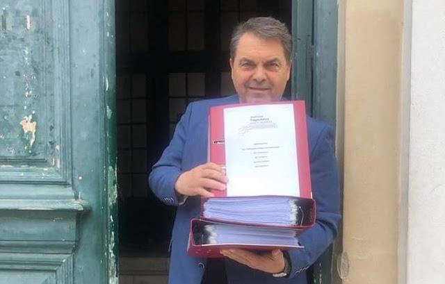 """Κατατέθηκε επίσημα η υποψηφιότητα του συνδυασμού """"Αλλαγή Πορείας Δημήτρης Καμπόσος"""""""