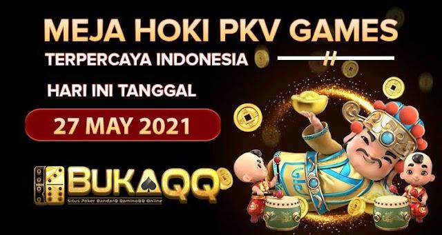 Berita Pkv Bocoran Meja Hoki  Pkv Games BukaQQ Tanggal 27 May 2021