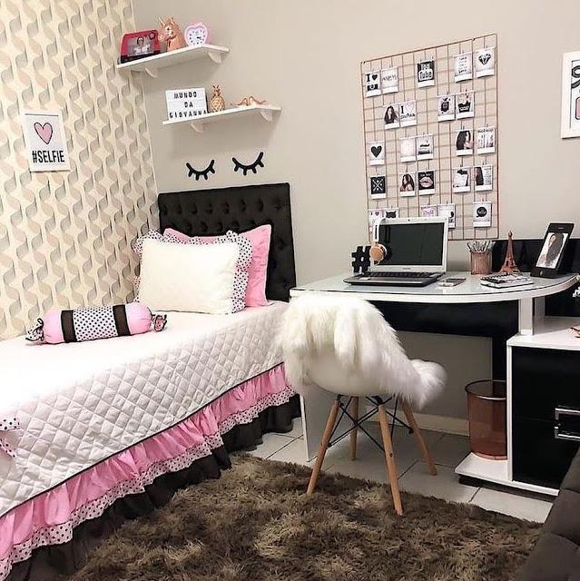 Furniture untuk Kamar Tidur Anak Perempuan Remaja Modern