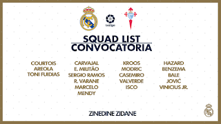 Hazard finally returns to Madrid squad for Celta game as Vazquez out