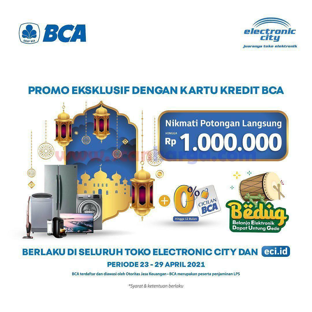 Electronic City Promo Potongan Rp 1Juta dengan Kartu Kredit BCA