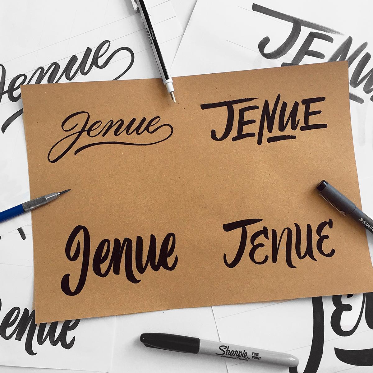 Hand Lettering on Kraft Paper