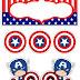 Capitán America Bebé: Toppers para Tartas, Tortas, Pasteles, Bizcochos o Cakes para Imprimir Gratis.
