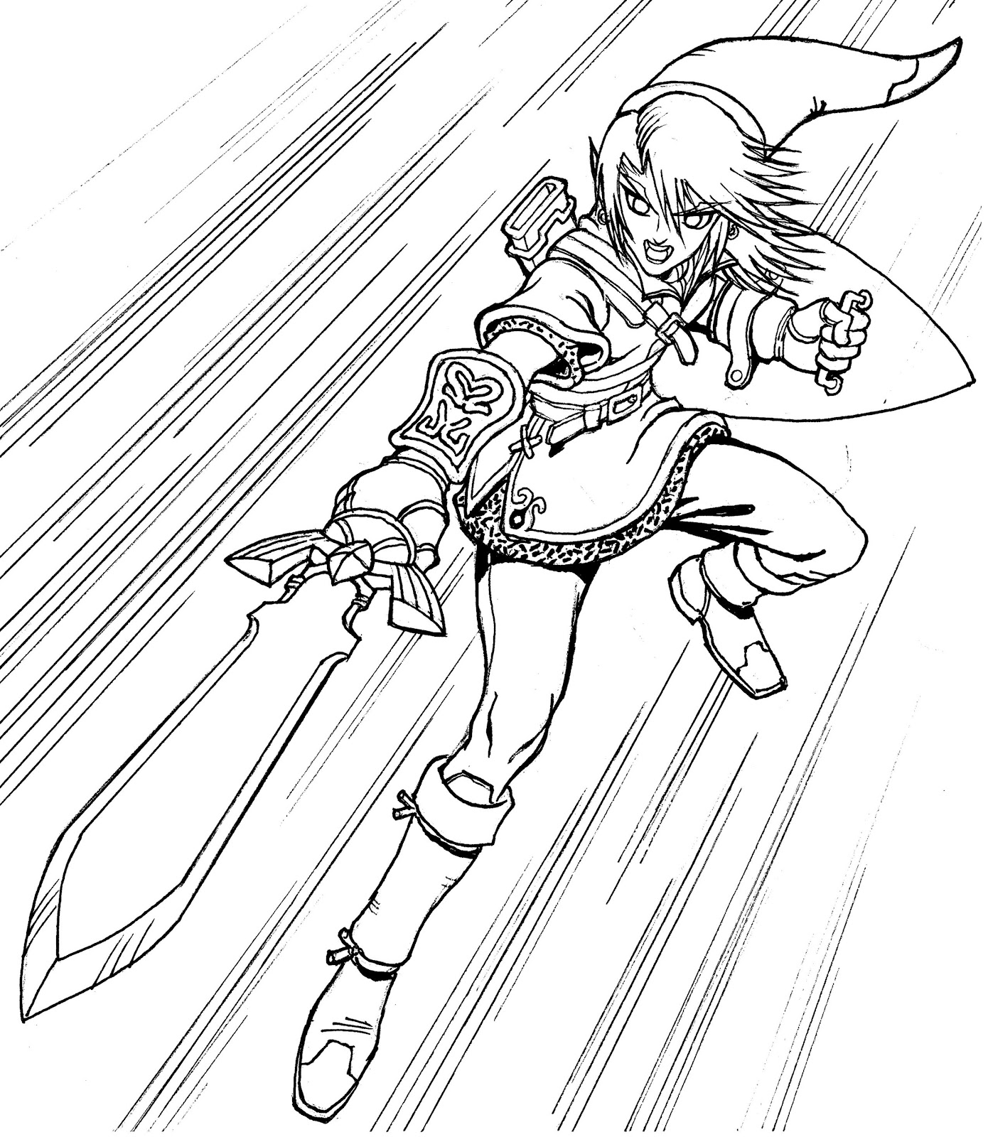 Link Hyrule Warriors Coloring Pages Coloring Pages