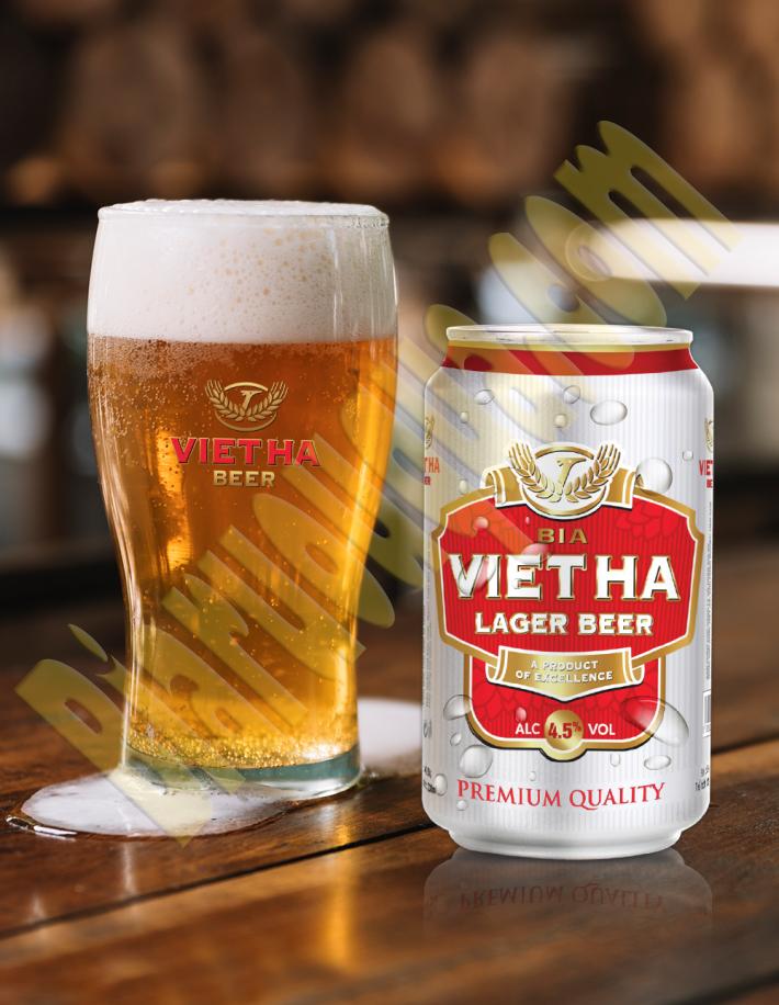 Bia lon Việt Hà 330ml