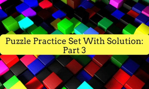 Puzzle Practice Set With Solution Part 3 Bankexamstoday