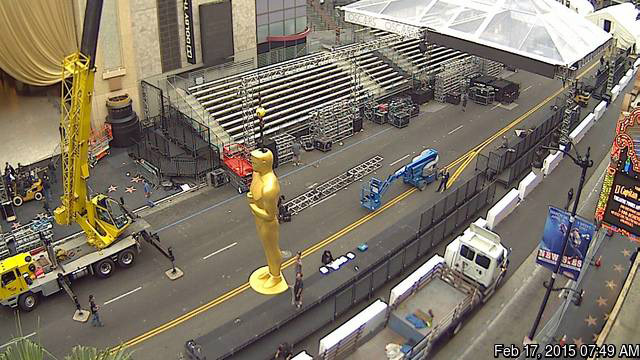 Oscars 2015 Hollywood Boulevard Begins Red Carpet