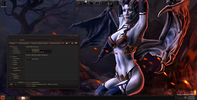 queen of pain dota 2 theme windows download free